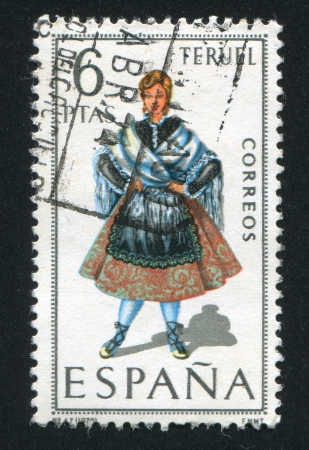 SPAIN - CIRCA 1970: stamp printed by Spain, shows woman Regional Costumes, circa 1970.
