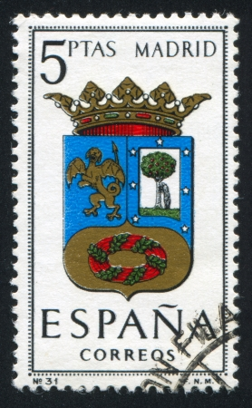 SPAIN - CIRCA 1964: stamp printed by Spain, shows Provincial Arms, Madrid, circa 1964.