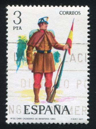 SPAIN - CIRCA 1977: stamp printed by Spain, shows soldier, circa 1977. Stock Photo - 15508933