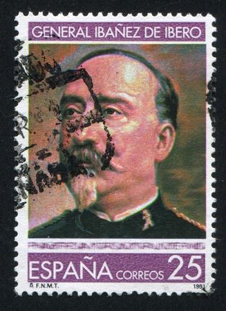 geodesist: SPAIN - CIRCA 1991: stamp printed by Spain, shows Carlos Ibanez de Ibero, circa 1991