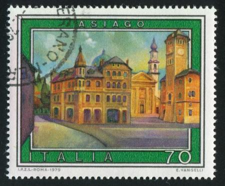 ITALY - CIRCA 1979: stamp printed by Italy, shows Asiago, circa 1979 Stock Photo - 15619414