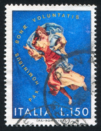 vestment: ITALY-CIRCA 1972: stamp printed by Italy, shows Angel, circa 1972 Editorial