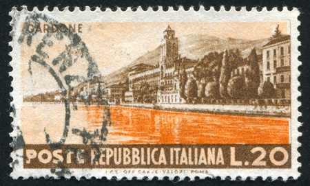 ITALY - CIRCA 1953: stamp printed by Italy, shows Seaside at Gardone, circa 1953 Stock Photo - 15619444