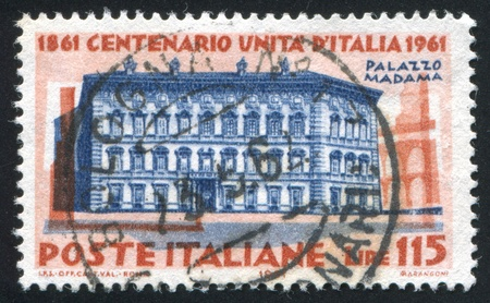 ITALY - CIRCA 1961: stamp printed by Italy, shows Villa Madama in Rome, circa 1961 Stock Photo - 15619416