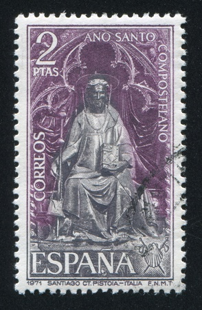 miraculous: SPAIN - CIRCA 1971: stamp printed by Spain, shows St James Statue, circa 1971