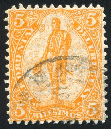 artigas: URUGUAY - CIRCA 1901: stamp printed by Uruguay, shows General Artigas, circa 1901 Editorial