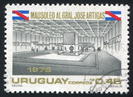 artigas: URUGUAY - CIRCA 1977: stamp printed by Uruguay, shows Artigas Mausoleum, circa 1977
