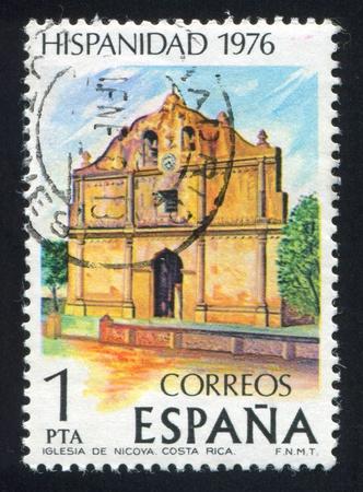 SPAIN - CIRCA 1976: stamp printed by Spain, shows Nicoya Church, circa 1976 Stock Photo - 15621315