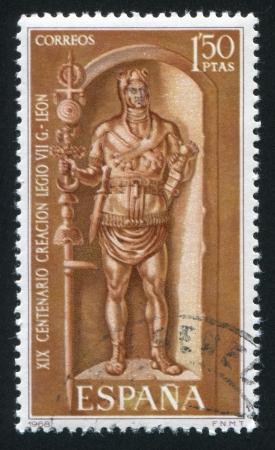 conqueror: SPAIN - CIRCA 1968: stamp printed by Spain, shows Roman Legionary, circa 1968