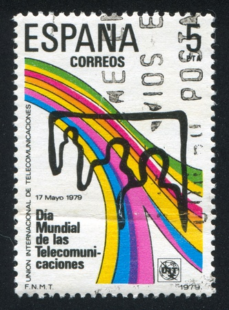 SPAIN - CIRCA 1979: stamp printed by Spain, shows Telecommunication, circa 1979