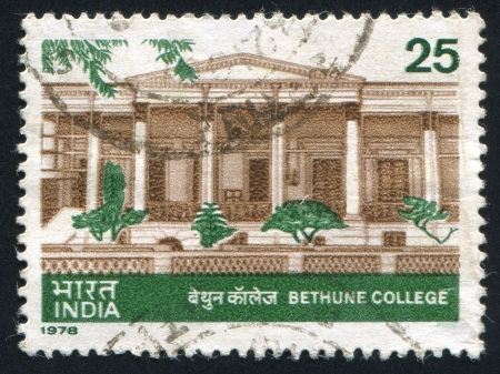 INDIA - CIRCA 1978: stamp printed by India, shows Bethune college, circa 1978 Stock Photo - 15740951