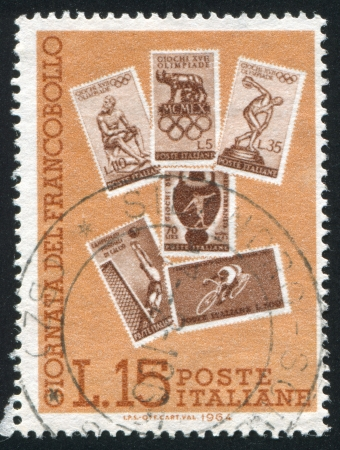 ITALY - CIRCA 1964: stamp printed by Italy, shows Sport stamps, circa 1964