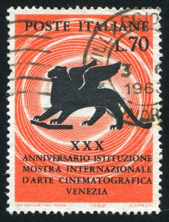 ITALY - CIRCA 1962: stamp printed by Italy, shows Lion of Saint Mark, circa 1962 Stock Photo - 15740958