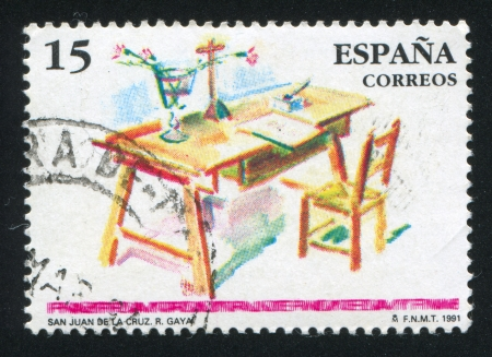 SPAIN - CIRCA 1991: stamp printed by Spain, shows St. John of the Cross (1651-1695), Mystic, circa 1991