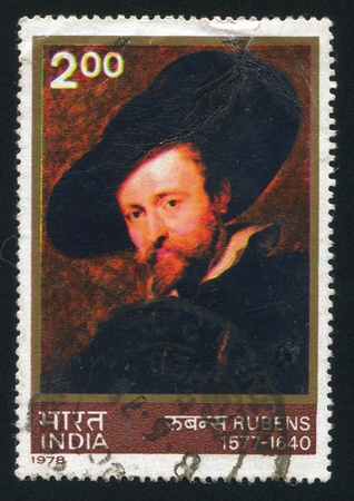 INDIA - CIRCA 1978: stamp printed by India, shows Rubens, Self-portrait, circa 1978