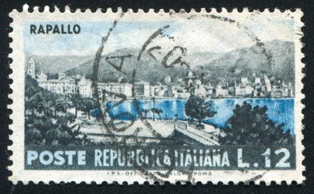 ITALY - CIRCA 1953: stamp printed by Italy, shows Rapallo, circa 1953 Stock Photo - 15849904