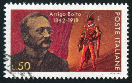 ITALY - CIRCA 1968: stamp printed by Italy, shows Arrigo Boito and Mephistopheles, circa 1968
