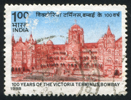 INDIA - CIRCA 1988: stamp printed by India, shows Victoria Terminal, circa 1988 Stock Photo - 15944698