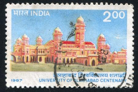 INDIA - CIRCA 1987: stamp printed by India, shows University of Allahabad, circa 1987 Stock Photo - 15944623
