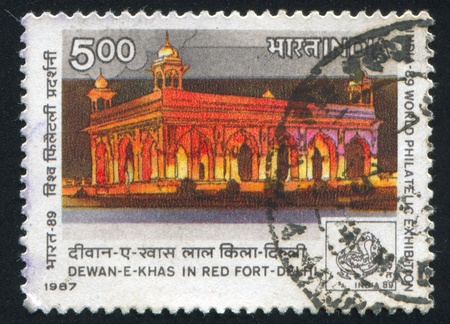 INDIA - CIRCA 1987: stamp printed by India, shows The Dewan-E-Khas building, circa 1987 Stock Photo - 15944578