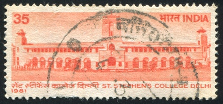 INDIA - CIRCA 1981: stamp printed by India, shows St. Stephen's College, circa 1981 Stock Photo - 15944618