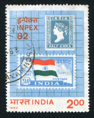 INDIA - CIRCA 1982: stamp printed by India, shows stamps, circa 1982 Stock Photo - 15944582