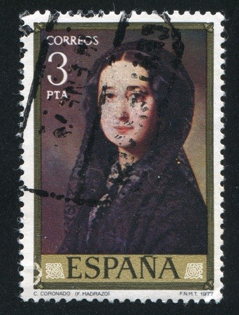 SPAIN - CIRCA 1977: stamp printed by Spain, shows Senora Coronado, circa 1977 Stock Photo - 15944625