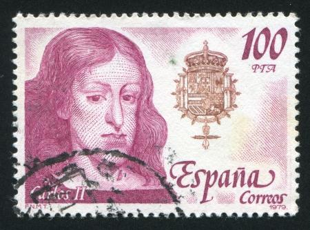 carlos: SPAIN - CIRCA 1979: stamp printed by Spain, shows Carlos II, circa 1979 Editorial