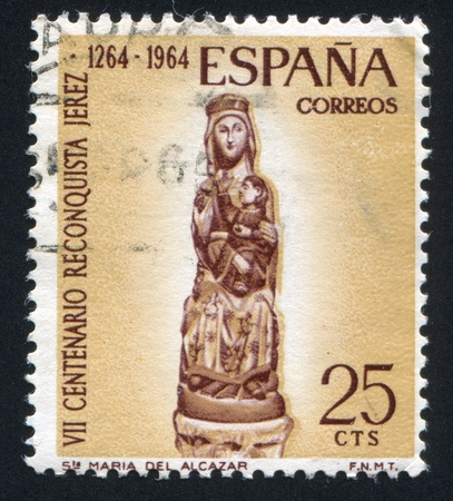 SPAIN - CIRCA 1964: stamp printed by Spain, shows Virgin of Alcazar, circa 1964