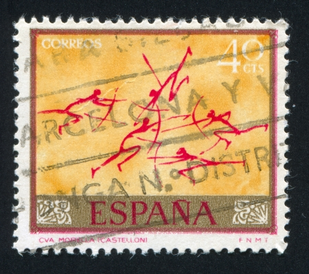 SPAIN - CIRCA 1967: stamp printed by Spain, shows Archers, circa 1967