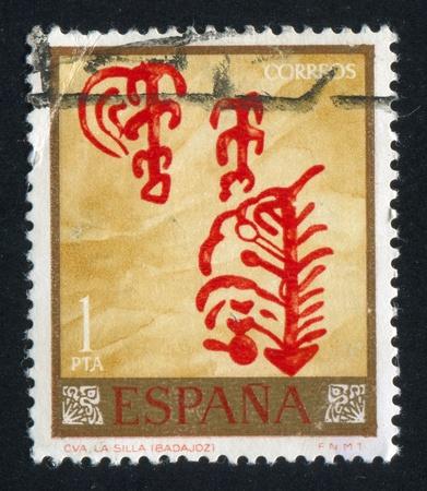 SPAIN - CIRCA 1967: stamp printed by Spain, shows Ornament, circa 1967