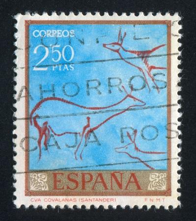SPAIN - CIRCA 1967: stamp printed by Spain, shows Deer, circa 1967