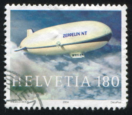 SWITZERLAND - CIRCA 2004: stamp printed by Switzerland, shows Zeppelin NT, circa 2004
