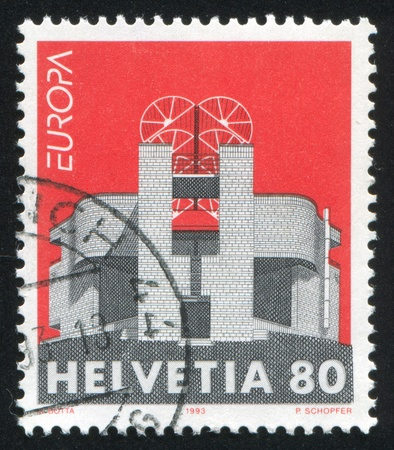 SWITZERLAND - CIRCA 1993: stamp printed by Switzerland, shows Modern Art, circa 1993