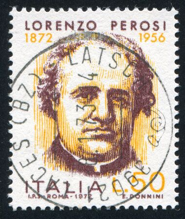 ITALY - CIRCA 1972: stamp printed by Italy, shows Lorenzo Perosi, circa 1972 Stock Photo - 16223791