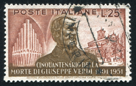 verdi: ITALY - CIRCA 1951: stamp printed by Italy, shows Giuseppe Verdi, circa 1951 Editorial