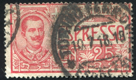 ITALY - CIRCA 1918: stamp printed by Italy, shows King Victor Emmanuel III, circa 1918 Stock Photo - 16223735