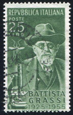 ITALY - CIRCA 1955: stamp printed by Italy, shows Batista Grassi, circa 1955 Stock Photo - 16223724