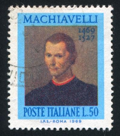 ITALY - CIRCA 1969: stamp printed by Italy, shows Niccolo Machiavelli, circa 1969 Stock Photo - 16223804