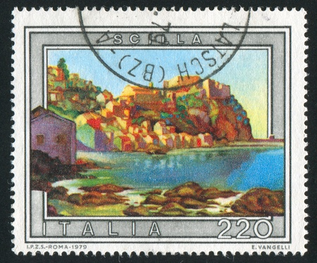 ITALY - CIRCA 1979: stamp printed by Italy, shows Scilla, circa 1979 Stock Photo - 16223764