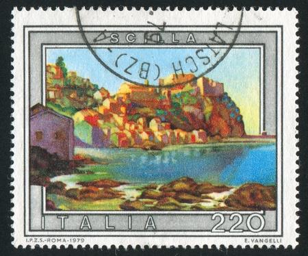 ITALY - CIRCA 1979: stamp printed by Italy, shows Scilla, circa 1979 Stock Photo - 16223764