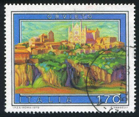 ITALY - CIRCA 1979: stamp printed by Italy, shows Orvieto, circa 1979 Stock Photo - 16223723