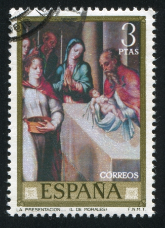SPAIN - CIRCA 1962: stamp printed by Spain, shows Presentation, circa 1962