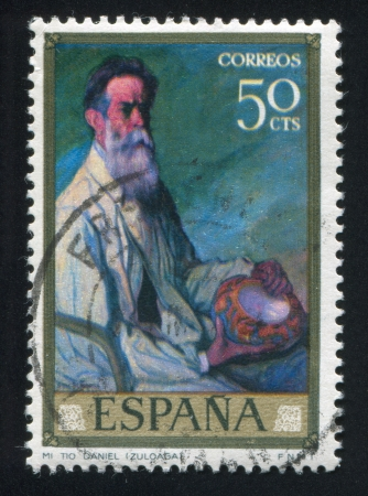 SPAIN - CIRCA 1977: stamp printed by Spain, shows portrait of Uncle Daniel, circa 1977 Stock Photo - 16223789