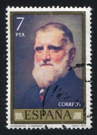 SPAIN - CIRCA 1977: stamp printed by Spain, shows portrait of Rivadeneyra, circa 1977 Stock Photo - 16223774