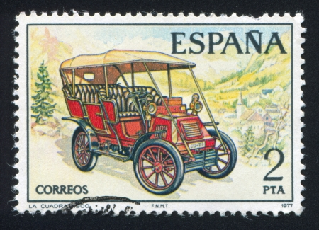 SPAIN - CIRCA 1977: stamp printed by Spain, shows La Cuadra, circa 1977