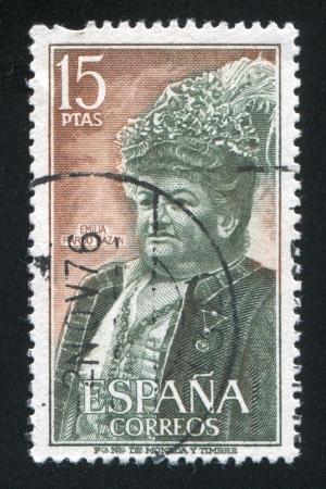 SPAIN - CIRCA 1972: stamp printed by Spain, shows portrait of Emilia Pardo Bazan, circa 1972 Stock Photo - 16223863