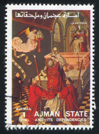 AJMAN - CIRCA 1976: stamp printed by Ajman, shows Resurrection of Christ, circa 1976