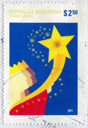 magus: ARGENTINA - CIRCA 2011: stamp printed by Argentina, shows a Magus and a Star, circa 2011