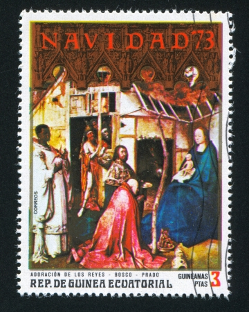 EQUATORIAL GUINEA - CIRCA 1973: stamp printed by Equatorial Guinea, shows Christmas, circa 1973